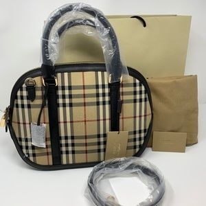 Burberry Horseferry Bowling Satchel Bag NWT
